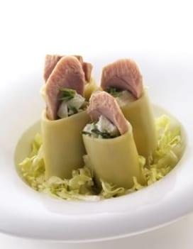 insalata paccheri spinaci tonno bufala
