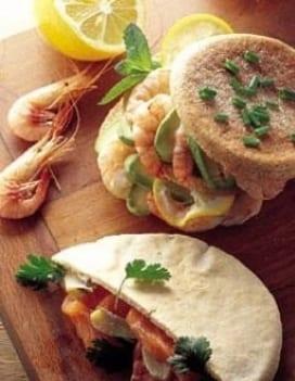 sandwiches e salmone